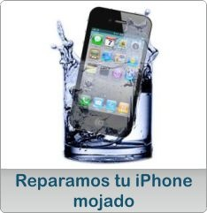 Reparamos tu iPhone mojado